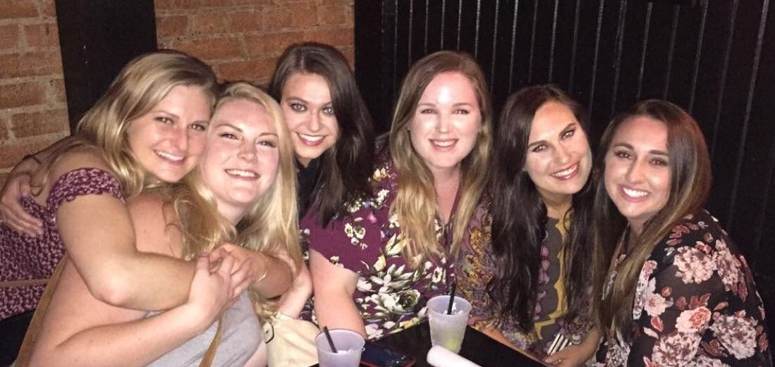 Kami with friends at a bar