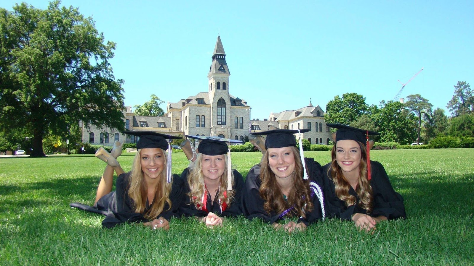 Taylor Russo and friends at KState graduation