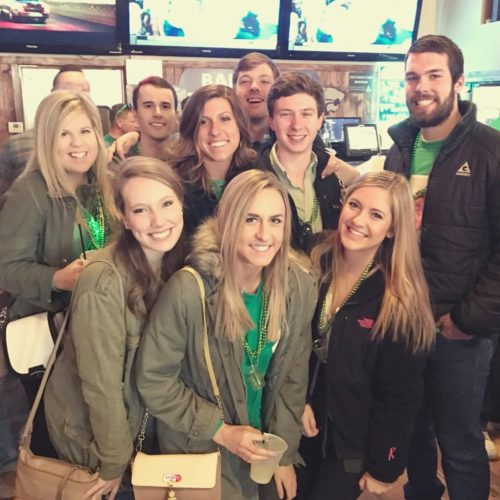 Taylor Russo and friends at Fake Patty's Day in Manhattan