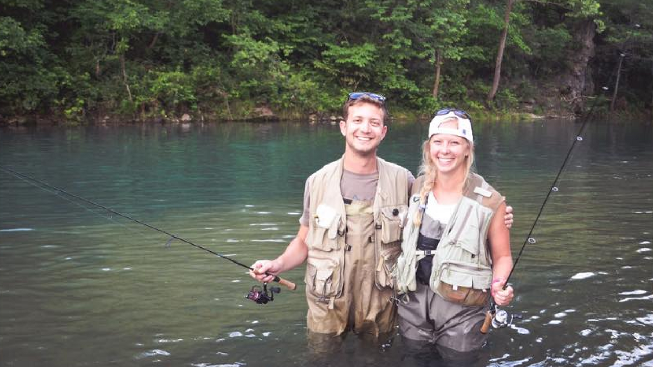 Matt and his girlfriend fishing