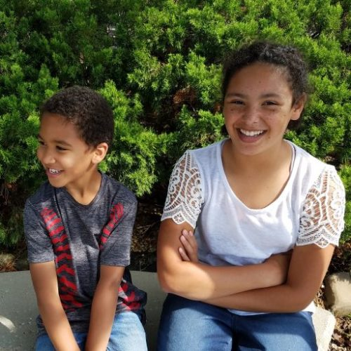 Jeremy's kids: Arthur and Iris
