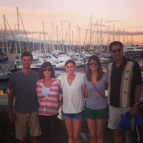Nicole with sailboats